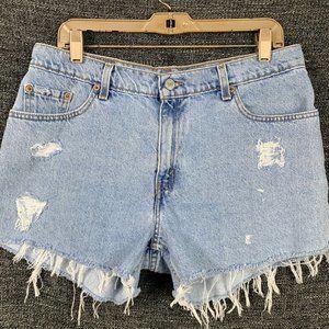 Levis 12 Distressed Shorts Vintage Cut Offs 90s